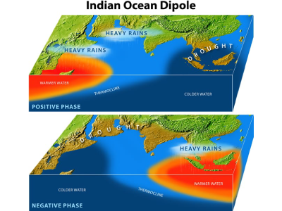 Indian Ocean dipole diagram