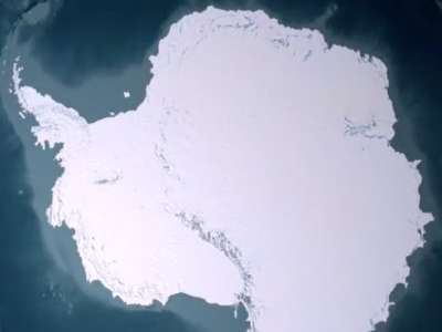 View of Antarctica from space