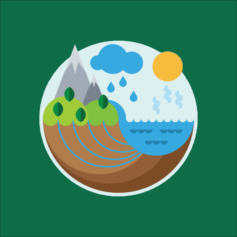Water cycle icon