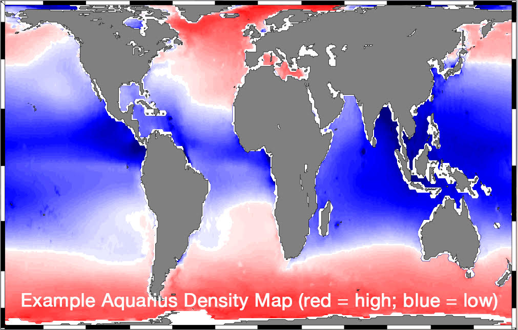 Example Aquarius density map