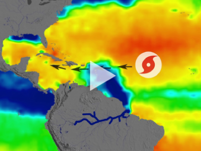 NASA's Aquarius satellite data shows how ocean salinity (saltiness) changes during the year