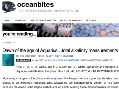 Dawn of the age of Aquarius ... total alkalinity measurements