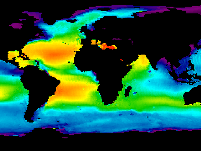Composite sea surface salinity map