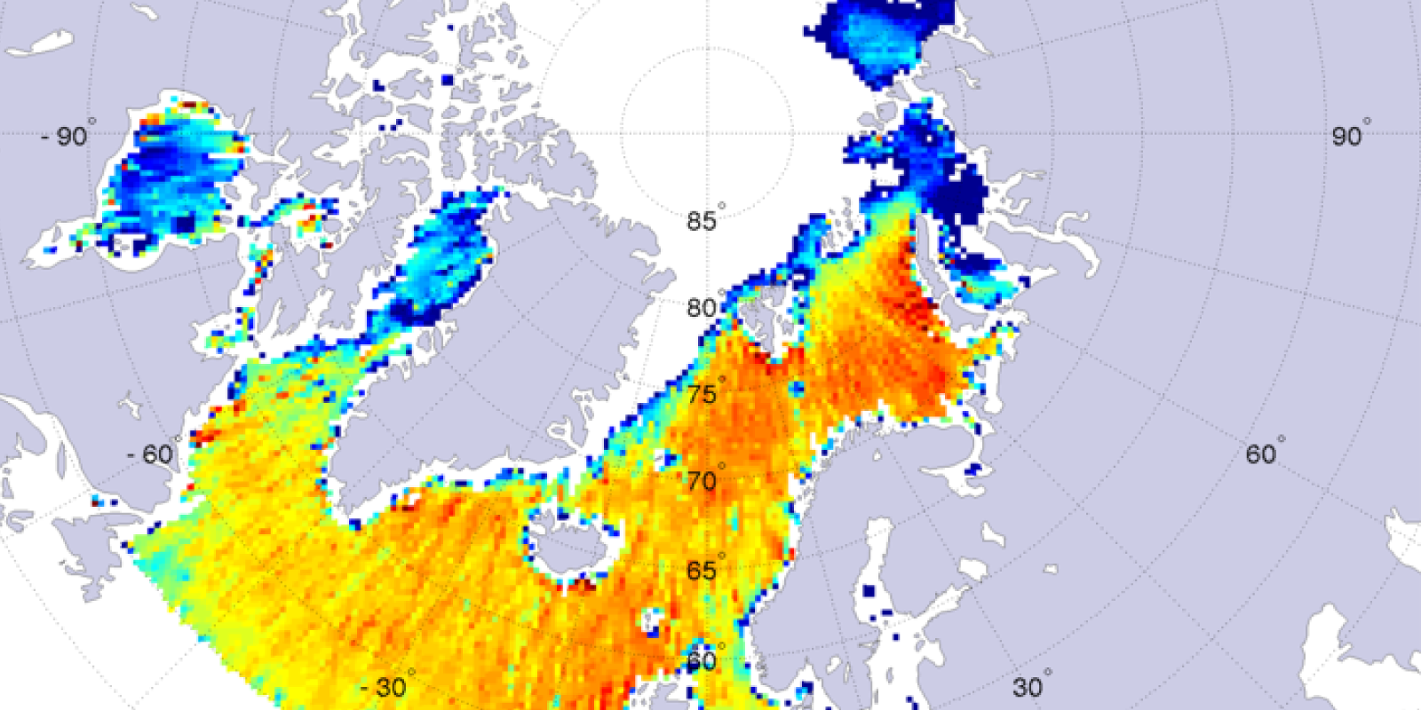 Sea surface salinity at high latitude