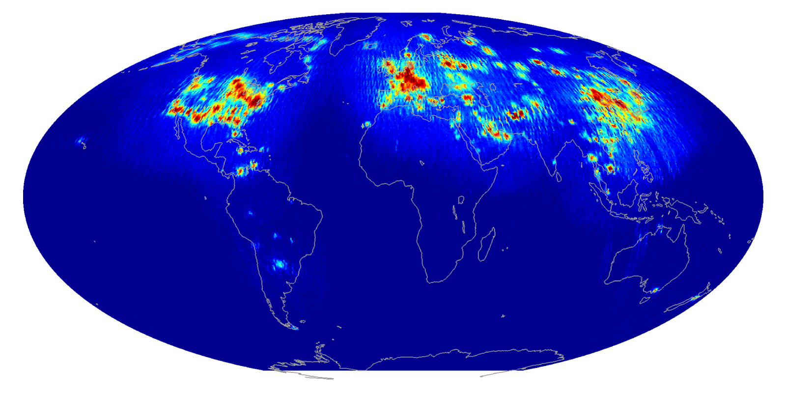 Global scatterometer RFI map