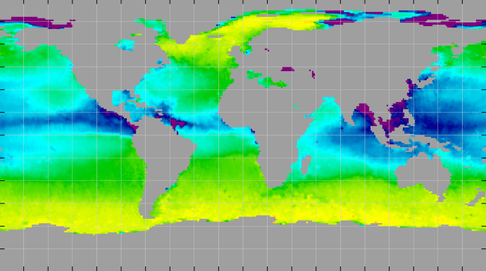 Sea surface density, September 2011