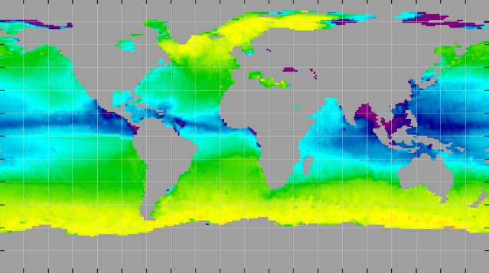 Sea surface density, October 2011