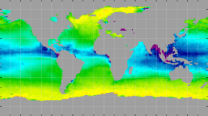 Sea surface density, November 2011