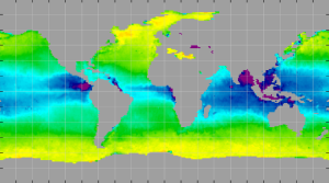 Sea surface density, April 2012