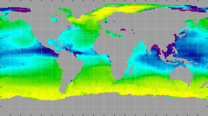 Sea surface density, September 2012
