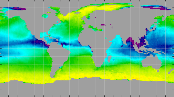 Sea surface density, October 2012