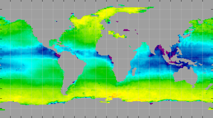 Sea surface density, December 2012