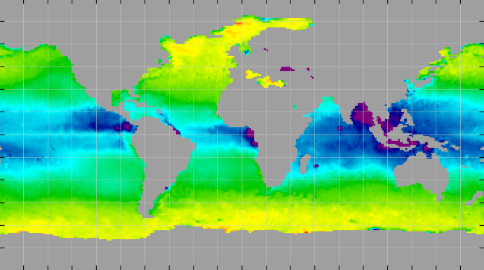 Sea surface density, April 2013