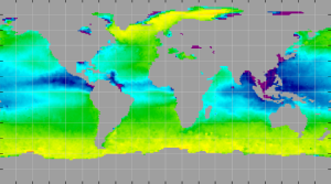 Sea surface density, July 2013