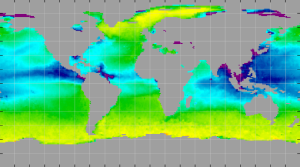 Sea surface density, August 2013