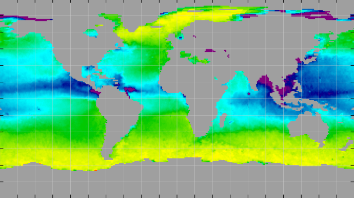 Sea surface density, September 2013