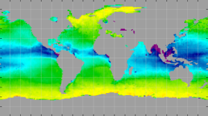 Sea surface density, November 2013