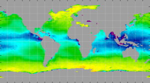 Sea surface density, December 2013