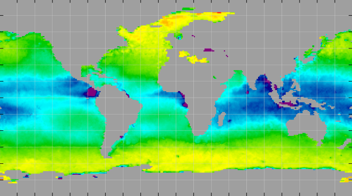 Sea surface density, February 2014