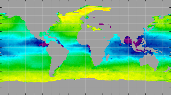 Sea surface density, May 2014