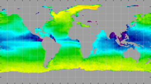 Sea surface density, June 2014