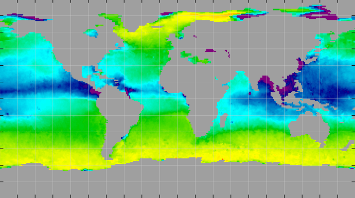 Sea surface density, September 2014