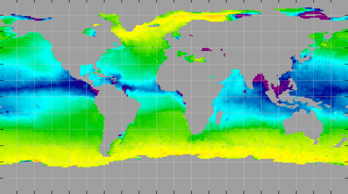 Sea surface density, October 2014