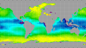 Sea surface density, February 2015