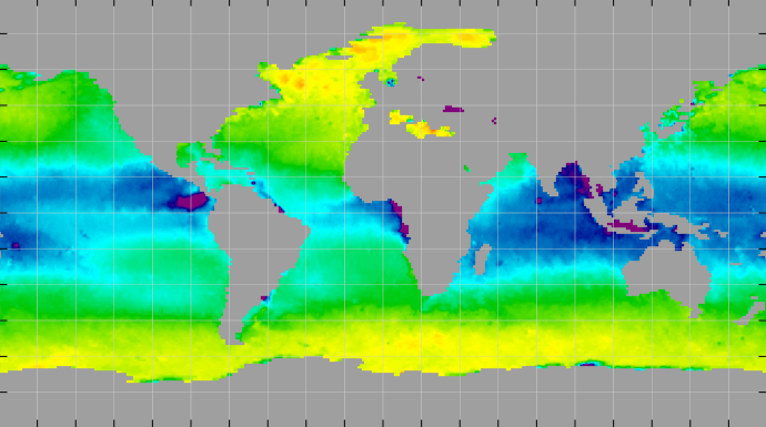 Sea surface density, March 2015
