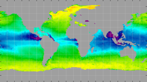 Sea surface density, May 2015