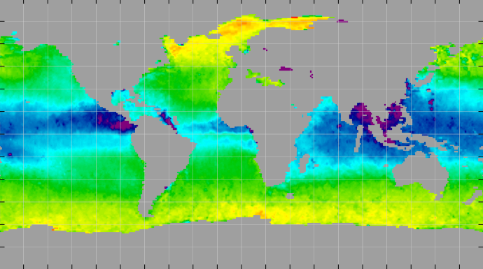 Sea surface density, June 2015