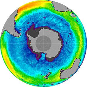 Sea surface salinity in the Southern Hemisphere, February 2014