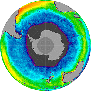 Sea surface salinity in the Southern Hemisphere, June 2013