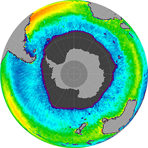 Sea surface salinity in the Southern Hemisphere, October 2014
