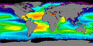 Global sea surface salinity, Autumn 2011-2014