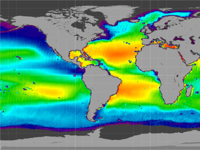 Global sea surface salinity, 25-Aug-11 to 05-May-15 (flat, ascending)