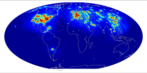 Global scatterometer percent rfi, December 2014