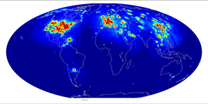 Global scatterometer percent rfi, February 2015