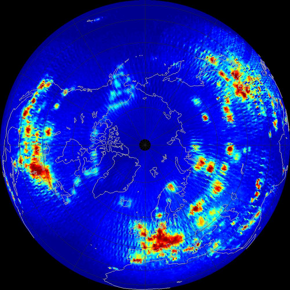 NASA Salinity: Aquarius Scatterometer RFI Maps (Northern ...