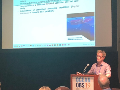 Roberto Sabia (ESA) provides an overview of the international partnership at OceanObs19