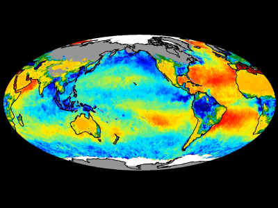 Global map of salinity and soil moisture data