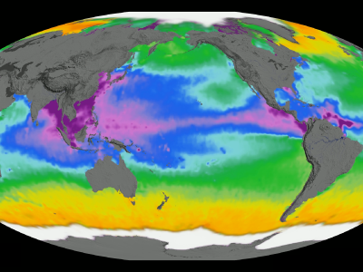 Global map of sea surface density